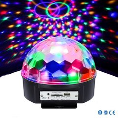 Диско шар с динамиками B-light LED BALL LAMP Светомузыка с MP3 плеером и Bluetooth